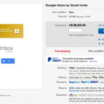how bad do you want a Google Inbox Invite? eBay bidding war shoots up to $8,200, up from $50! http://t.co/TPNMkMAIbi http://t.co/4gF5E2TTUj