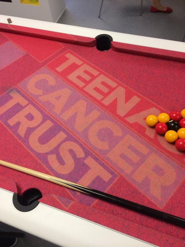 Played pool with some of the guys at the Bristol @TeenageCancer unit today. Thank you for having me #CoolCloth http://t.co/b6zkwFKHRZ