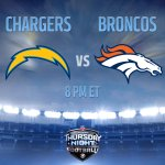 RT @nflnetwork: Who wins tonight: #Chargers or #Broncos?