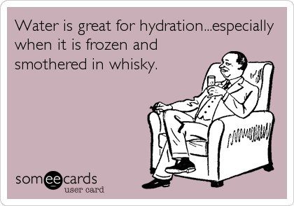 Hydrating is very important. #BuffaloTrace http://t.co/BRaOhQAqGG