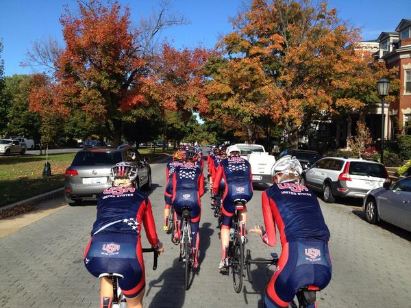 Quick trip up to Virginia to check out the @richmond2015 courses with #TeamUSA and @usacycling. Nice lookin city! http://t.co/eYMSokdkY3