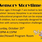 RT @tcplny: #sensory #storytime returns Sat @ 3:30. Find an outline, video tour and more http://t.co/AsdLX7CsFw #twithaca http://t.co/PK3x55zD1z