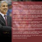 "RT @ACBCOM: ""Amigos..."". Abós nos deja una carta póstuma llena de cariño y emociones: http://t.co/BvsOvtFaxR #GraciasJoséLuis http://t.co/CH8J6R29xe"