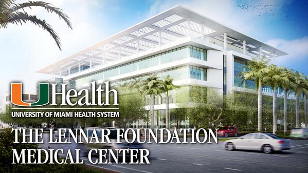 $50M gift names Lennar Foundation Medical Center,@univmiami CoralGables @UHealthMiami facility http://t.co/PsLTzPyG99 http://t.co/ROSpUHdNuK