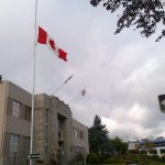 RT @HilaryEastmure: City of #Nanaimo has lowered the Canadian flag to half-mast in honour of Corp. Nathan Cirillo. http://t.co/qNznXJqEXS http://t.co/f26vXJ5bxs