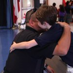 Pharr PD Officer receives a hug from one of his former Pharr P.A.L basketball players. Read: http://t.co/Mz3mBZDfNz http://t.co/0MJgFCBmPn