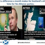 RT @OneMoreYesScot: What a difference a month makes for Scotland's oil. Vote 4 #YESAlliance parties. #indyscot #indyref #the45plus #the45 http://t.co/z7f9uiuN9J