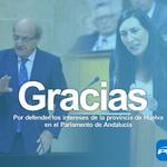 Gracias @PedroRodrHuelva y @loleslopez por defender los intereses de #Huelva en el @ParlamentoAnd. #Compromiso http://t.co/TMgCNqWSf1
