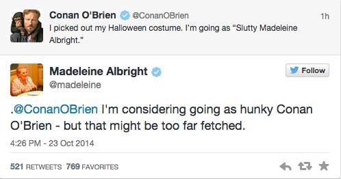 """@voxdotcom: Madeleine Albright just won Twitter: http://t.co/50NcGGKBaq http://t.co/n2qAZy08U7"" loving Madame Secretary right now..."