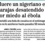 Le estalló una bola de cocaína y murió porque nadie le atendió pensando que tenia ébola. #Asco #Vergüenza #ébola http://t.co/iTOqB2cTYs