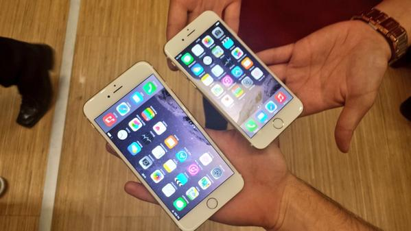 There you go folks! The incredible #iPhone6 & #iPhone6Plus! RT this tweet if you want to get your hands on one! http://t.co/FcZ9TSjlIq