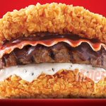 OMG, new #KFC Double Down burger is a beef patty surrounded by… http://t.co/qgv9C06GKs <-- Who even thought of this??