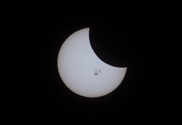 Solar eclipse taken from one of our producers ... he took this just outside @GlobalOkanagan in downtown #Kelowna http://t.co/uKUEV16PBc