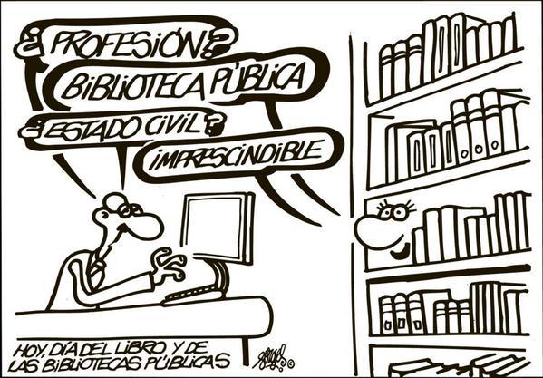 Feliz #DiadelaBiblioteca... pero defiende y protege a la #biblioteca tooodos los días... http://t.co/GfHzMd5ogz