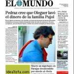 """Portada de El Mundo: """"Muere en Barajas un nigeriano desatendido por miedo al ébola"""" http://t.co/gk4E5QX6DI"""