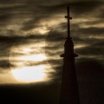 Heres the #SolarEclipse as seen from @NotreDames Basilica of the Sacred Heart. @SBTribune http://t.co/2GKuJqbixU