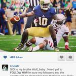 """Heres KeiVarae Russells Instagram post saying WR DaVaris Daniels is """"likely"""" to return to #NotreDame in 2015. http://t.co/wcCWY0zlCc"""