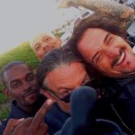 RT @KimFCoates: Our show is almost dead...but a selfie never dies.. TIG TRAGER.. @TommyFlanagan @davidlabrava n MO.. Peace KC.. http://t.co/DcoBqFcJbf
