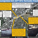 RT @NWSPortland: A look at the track & damage caused by the EF1 tornado earlier today in Longview, WA #pdxtst #wawx #orwx http://t.co/c9IgkSypZP