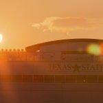 The solar eclipse from Bobcat Stadium #txst #smtx #eclipse http://t.co/LZYkk6raLp
