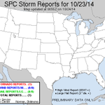 There was just one tornado reported in the United States today. That tornado was in Longview, WA. http://t.co/mcI9cSOdUc