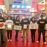 My buddies nd well wishers in New Jersey have done this for me in the AMC Theatre playing karthikeya.. Love u guys :)