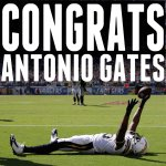 RT @nfl: Antonio Gates now has more receiving yards than any other player in @Chargers history. #Salute http://t.co/WEZD9rNEsC