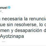"""RT @RegeneracionMx: """"Sigue sin resolverse, lo que más duele, la desaparición de los jóvenes de Ayotzinapa"""", AMLO http://t.co/39EnDIPAIO http://t.co/TFclEcmfPU"""