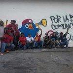 Muralistas de la Brigada Nicolás Hurtado Barrios #Guárico activados en la defensa de los logros de la Revolución http://t.co/lHeqYbgzWW