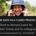 Today marks 300 days in custody for @PeterGreste and his colleagues.  #FreeAJStaff #journalismisnotacrime http://t.co/H8NIcuWjfL