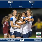 BYU defeats Santa Clara for the first time in BYU Soccer history! A season high 5 goal game makes history tonight! http://t.co/kWMMbNW78c