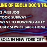 RT @megynkelly: #NYC doctor with #Ebola went for a jog, took subway,went bowling before being diagnosed. #KellyFile http://t.co/XkByQV7fOX