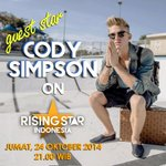 RT @RisingStar_INA: TODAY! @CodySimpson will perform on Rising Star Indonesia at 9pm only on @OfficialRCTI. #RisingStarINA http://t.co/VdbLUEGEBA