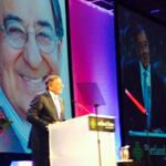 Listening to former US Defense Sec./CIA Director,Leon Panetta at PSU #simonbenson14 awards. @kgwnews http://t.co/Wd3MhnjvOB