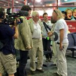 RT @TSVAirport: A very special treat for passengers today. Welcome to Townsville @Sir_Attenboroug and @BillBailey http://t.co/UN8iFlI9vp