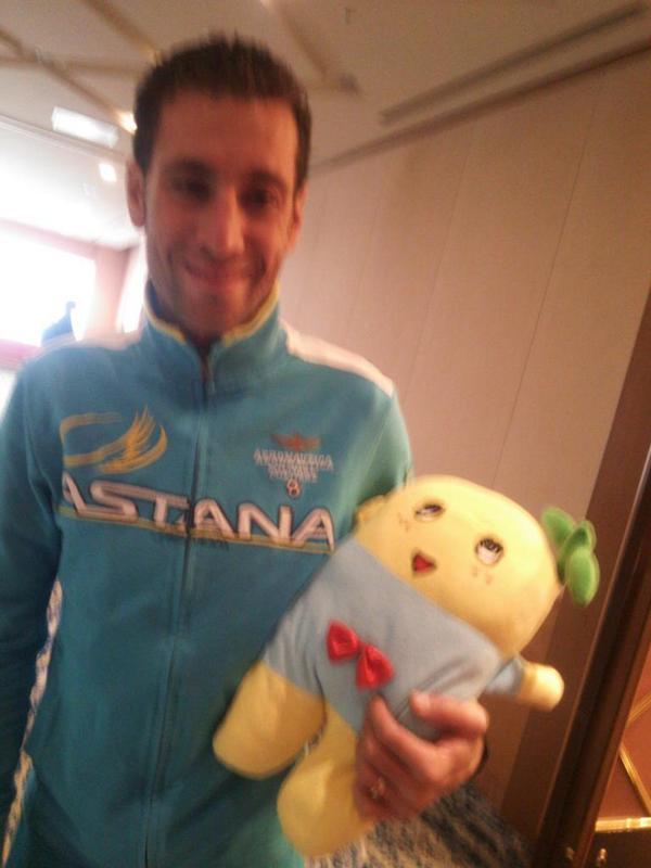 ツール・ド・フランスのチャンピオンがきたなっしー! http://t.co/lgNgo9FlZD