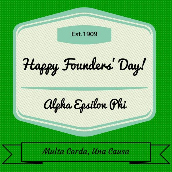 Happy Founders' Day to @AEPhi sisters from Atlantic to Pacific! http://t.co/N3UOtqqK3p