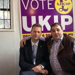 Ukip MEPs Nathan Gill and David Coburn at Ukip HQ in Rochester http://t.co/qlK7f2s2WG
