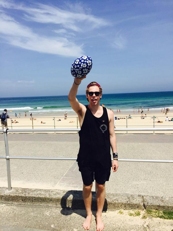 Beach footy and funny hair http://t.co/XdPSrY9hEm