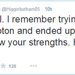 RT @paddypower: Danny Higginbotham knows his limits. http://t.co/Jb4PRumGJb