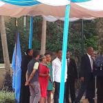 RT @CarolineMutoko: Proud of Mum. The children escorted @FirstLadyKenya to the podium to receive her award. @Kiss100Kenya http://t.co/GUC4nVkVd3