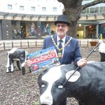 MK Mayor Cllr Derek Eastman at the launch of the special edition MK Monopoly board! http://t.co/CzSPiN9Ycn