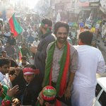 PTI YOuthwing #Gujrat Pre Jalsa Rally #GujratForPTI http://t.co/FulWKavOlb