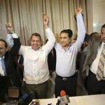 RT @LeoAgusto: Aquí el bato @GustavoMadero levanta la mano de @AngelAguirreGro Oh, la nostalgia... http://t.co/hnucAgaWKp