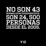 No son 43, son más de 24 mil personas desaparecidas en México. La mayoría jóvenes #AccionGlobalAyotzinapa http://t.co/IZjgXpeBam