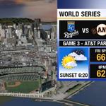 RT @SandhyaABC7: Looking good for game 3 tomorrow night @SFGiants vs. @Royals #WorldSeries! http://t.co/y6dgisfOwz