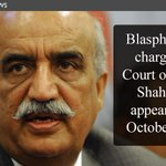 RT @etribune: (News) #Blasphemy charges: Court orders Shah to appear on Oct 28 http://t.co/mPg29tmJeb #Pakistan http://t.co/mVBMDuC7hP