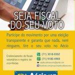 SEJA FISCAL DO SEU VOTO! Em Salvador, ação será feita por @claudiotinoco http://t.co/I7PQ2HrLrE #VotoAecioPeloBR45IL http://t.co/uWiVJZ2W9J