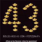RT @Claudia_ag: Solidaridad con #Ayotzinapa #AccionGlobalAyotzinapa 43 velitas #NosFaltan43 http://t.co/uHJCNshmnr