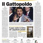 RT @lablegia: «Il Gattopoldo» #primapagina de @ilmanifesto Ormai ci vorrebbero delle parole nuove per cotanta grandiosità http://t.co/2xFMTtB0Ik #Renzi